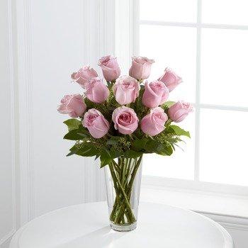 Ramo de rosas rosadas encantadoras