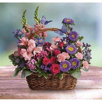 Canasto con Flores del Campo