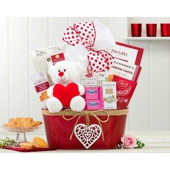 Canasto de Regalo Feliz Día de Valentín