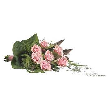 Ramillete Fuenrario Rosas Rosadas