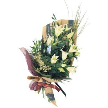 Ramo de flores cortadas con lirios de casablanca (florero no incluido)
