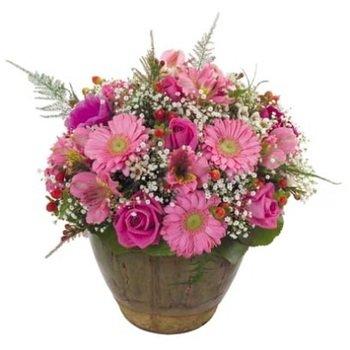 Arreglo de flores cortadas - rosa