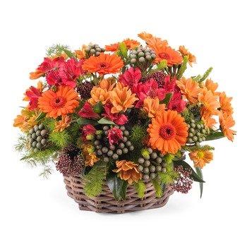 Arreglo en Canasto de Flores Mixtas