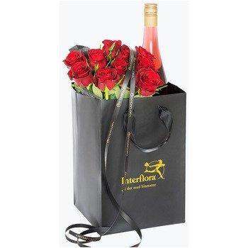 10 Rosas Rojas con Sidra