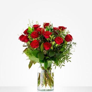 Ramo de Hermosas Rosas Rojas (jarrón no incluido)