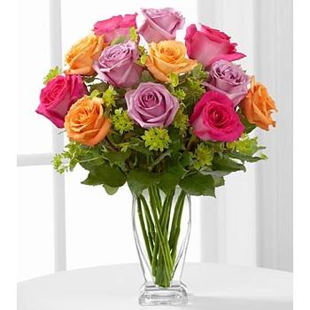 El Ramo de Rosa de FTD Encantamiento Puro - JARRÓN INCLUIDO