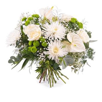Ramo de Primavera con Anturio y Rosas (Florero No Incluído)