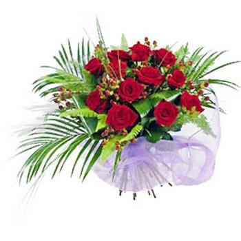 Una Docena de Rosas Envueltas en Papel